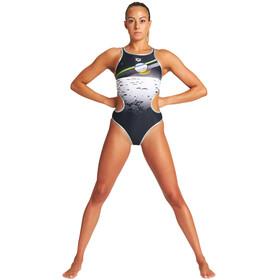 arena One Perspective One Piece Swimsuit Women, czarny/biały